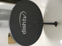 Dish tv with 3 month subscription left box + dish + cable + remote
